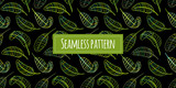 Green leaves, seamless pattern for your design