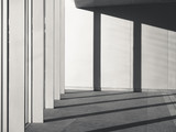 Architecture Details Cement concrete wall with Columns Shadow shade light - 213760276