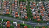 aerial view of home village in bangkok thailand - 213780047