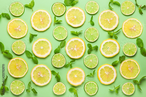 fresh lemon and lime - 213782870