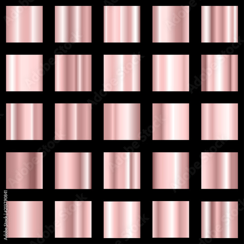 Set of pink gradient. Rose color gradient collection. Vector. - 213790841