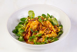 Duck tempura with salad - 213794204