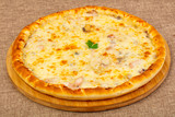 Pizza with seafood - 213799461