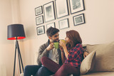 Couple having a cup of coffee - 213800874