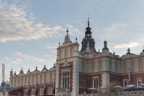 Fotobehang Krakau Market Square in Krakow Old Town, Poland