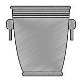 bucket liquor silhouette icon vector illustration design - 213812859