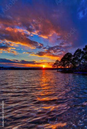 Plexiglas Zonsopgang Colorful Lake