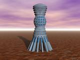Futuristisches Bauwerk auf fremdem Planeten - 213825628