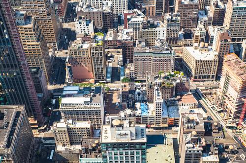 Aluminium New York New York City Manhattan cityscape of buildings at midtown on sunny day