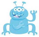 fantasy monster creature cartoon illustration - 213848031