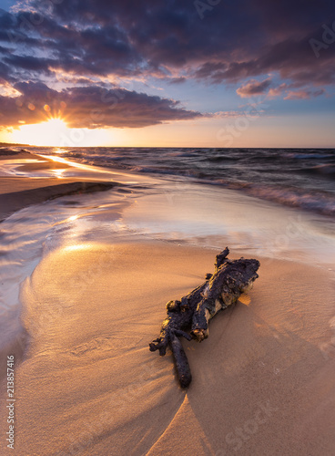 Scenic view of Baltic Sea during sunset, Poland