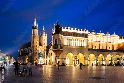 Fototapeta Krakow Market Square at night, Poland
