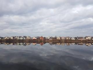 Volga river in Tver, Russia