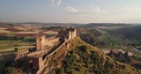 The ruins of the castle Riba de Santiuste of the IX century Guadalajara Castile Spain - 213874258