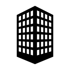 Office building or corporate company headquarters flat vector icon for real estate apps and websites