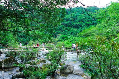 Quang Binh, Vietnam - July 13, 2018: Nuoc Mooc spring - Mooc stream Phong Nha Ke Bang national park © Big Pearl