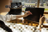 Blockchain technology concept. Internet money transfer. Cryptocurrency. - 213895653