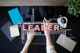 Leader. Leadership. Teambuilding. Business concept. Words cloud. - 213896096