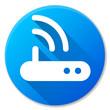router blue circle icon design