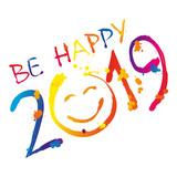 be happy 2019 wektor - 213898673