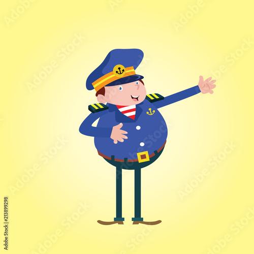 happy funny joyful seaman navy sailor marine mariner cartoon character - 213899298