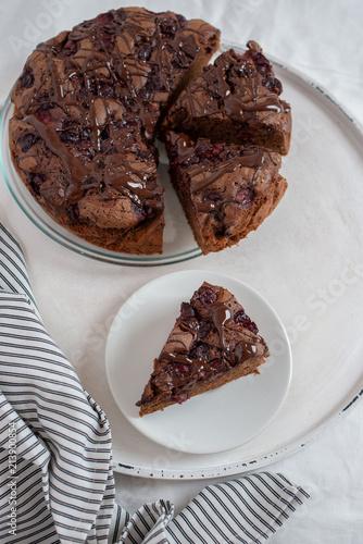 Fotobehang Kersen Schoko Kirsch Kuchen