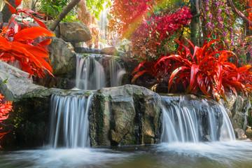 Waterfall in garden at the public park © weerayut