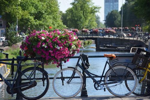Foto Spatwand Fiets Amsterdam, Pays-Bas