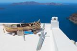 Greece, greek islands typical view, Santorini - 213925676