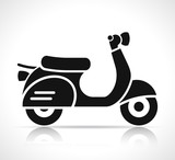 scooter icon on white background