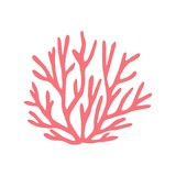 coral isolated hand drawing. vector on white background. marine animal - 213937691