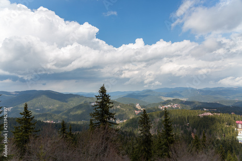 Fotobehang Grijze traf. Mountains
