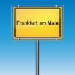 Ortsschild - Frankfurt am Main