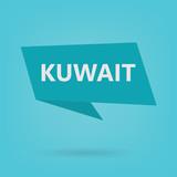 Kuwait word on sticker- vector illustration - 213947646