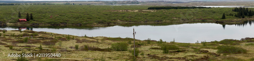 Panoramic image of the beautiful landscape of Iceland - 213950440
