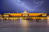 Thunderstorm on the Main Square of Krakow at night, Poland - 213968000