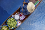 Thaka is genuine and charming view of a traditional Thai floating market. - 213978234