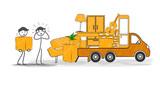déménagement stress au chargement du camion - 213983680