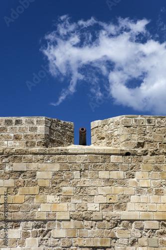 In de dag Cyprus Larnaca castle at Cyprus