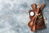 Vintage kitchen utensils and spices - 213986886