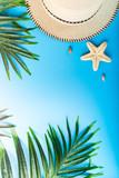 Traveler accessories, summer background - 213990846