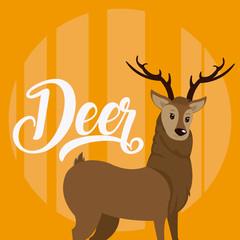 Deer Cute animal cartoon © Stockgiu
