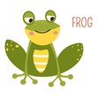 Frog cartoon vector South East Asia animal