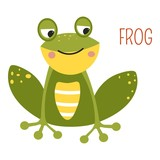Frog cartoon vector South East Asia animal