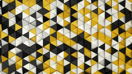 Pattern of black, white and yellow triangle prisms © GooD_WiN
