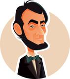 Abraham Lincoln Vector Caricature Illustration - 214047841