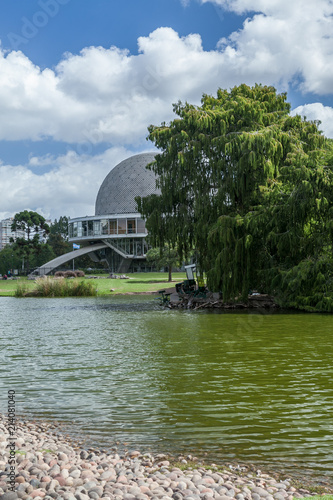 Foto Spatwand UFO Park view with the planetarium of Buenos Aires, Argentina