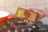 Ordering food online by smartphone - 214094485