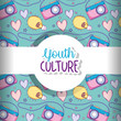 Youth culture pattern background