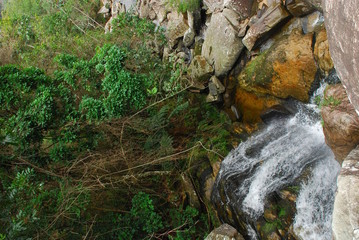 Waterfall with canyon in stones in Brazil © PlusPhotography